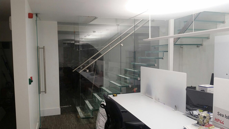Internal Glass Staircases